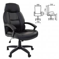 Кресло офисное BRABIX 'Formula EX-537', экокожа, черное, 531388