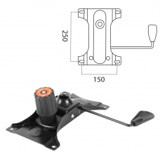 Механизм качания для кресла, 'Top-Gun', межцентровое расстояние крепежа 150х250 мм