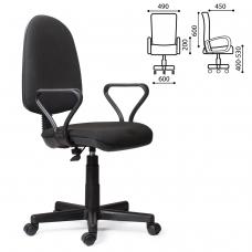 Кресло 'Prestige', с подлокотниками, черное