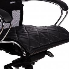 Накладка на сиденье для кресла 'SAMURAI', кожа, черная