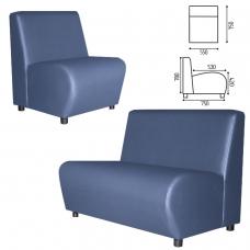 Кресло мягкое 'V-600', 550х750х780 мм, без подлокотников, экокожа, голубое