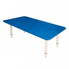 Стол детский 'Дошколенок', 900х450х400-580 мм, регулируемый, рост 0-3 85-145 см, пластик, синий, слоновая кость