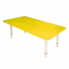 Стол детский 'Дошколенок', 900х450х400-580 мм, регулируемый, рост 0-3 85-145 см, пластик, желтый, слоновая кость
