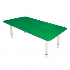 Стол детский 'Дошколенок', 900х450х400-580 мм, регулируемый, рост 0-3 85-145 см, пластик, зеленый, слоновая кость