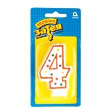 Праздничная свеча цифра '4' высотой 7,6 см