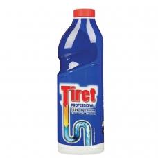 Средство для прочистки канализационных труб 1 л, TIRET Тирет Professional, гель