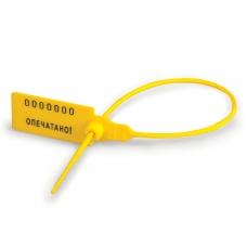 Пломбы пластиковые номерные, самофиксирующиеся, длина рабочей части 220 мм, желтые, комплект 50 шт., 600810