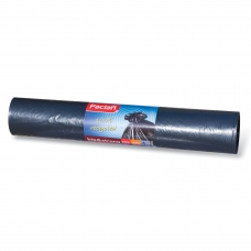 Мешки для мусора 240 л, черные, в рулоне 20 шт., ПНД, 35 мкм, 140х90 см, PACLAN 'Big&Strong'