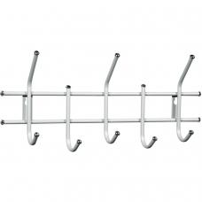 Вешалка настенная 'Стандарт 2/5', 280х600х110 мм, 5 крючков, металл, белая