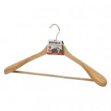 Вешалка-плечики, размер 48-50, деревянная, анатомическая, перекладина, цвет сосна, BRABIX 'Люкс', 601163