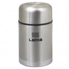 Термос ЛАЙМА универсальный с широким горлом, 0,8 л, нержавеющая сталь, 601408