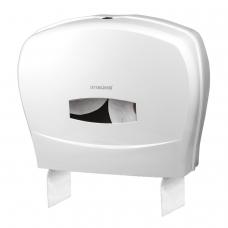 Диспенсер для туалетной бумаги ЛАЙМА PROFESSIONAL Система T1/T2, большой, белый, ABS-пластик, 601428