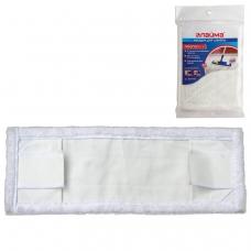 Насадка МОП плоская для швабры/держателя 40 см, уши/карманы ТИП У/К, микрофибра, упаковка, ЛАЙМА, 601479