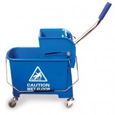 Тележка-ведро уборочная BRABIX, 20 л, механический отжим, синяя, 601497