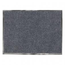 Коврик входной ворсовый влаго-грязезащитный VORTEX, 90х120 см, толщина 7 мм, серый, 22093