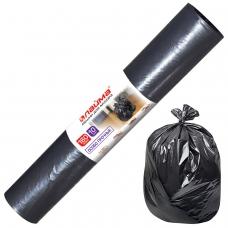 Мешки для мусора 160 л, черные, в рулоне 10 шт., ПВД, 100 мкм, 90х110 см ±5%, особо прочные, ЛАЙМА, 601798