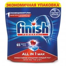Таблетки для мытья посуды в посудомоечных машинах 65 шт. FINISH Финиш All in 1, 3017406