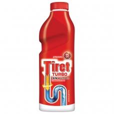 Средство для прочистки канализационных труб 1 л, TIRET Тирет Turbo, гель, 8147377