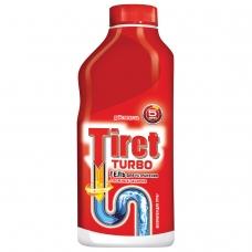 Средство для прочистки канализационных труб 500 мл, TIRET Тирет Turbo, гель, 8147369