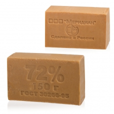 Мыло хозяйственное 72%, 150 г Меридиан, без упаковки