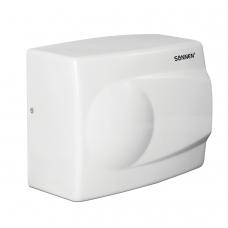 Сушилка для рук SONNEN HD-298, 1500 Вт, время сушки 30 секунд, металлический корпус, белый, антивандальная, 604193