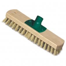 Щетка для уборки скраббер, ширина 23 см, щетина 2,5 см, деревянная, крепление еврорезьба, YORK, 300