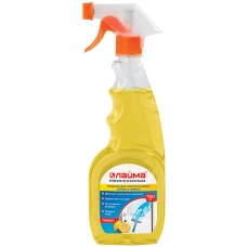 Средство для мытья стекол и зеркал 750 мл, ЛАЙМА PROFESSIONAL 'Лимон', распылитель, 604653