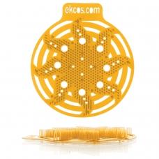 Коврики-вставки для писсуара, ЭКОС POWER-SCREEN, на 30 дней каждый, комплект 2 шт., аромат 'Апельсин', цвет оранжевый, PWR-4O