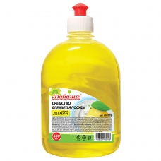 Средство для мытья посуды 500 мл, ЛЮБАША 'Лимон', пуш-пул