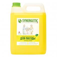 Средство для мытья посуды 5 л SYNERGETIC 'Лимон', антибактериальное, 103500