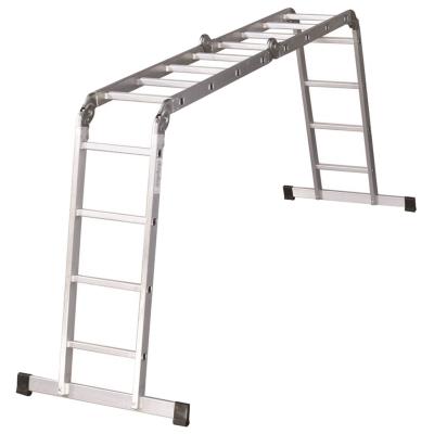 Лестница-трансформер 4х4 ступени, высота 4,5м (4секции по 1,27м), нагрузка 150кг, алю, 511444
