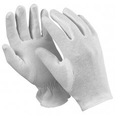 Перчатки хлопчатобумажные MANIPULA 'Атом', КОМПЛЕКТ 12 пар, размер 9 L, белые, ТТ-44