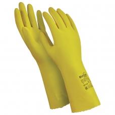 Перчатки латексные MANIPULA 'Блеск', хлопчатобумажное напыление, размер 8-8,5 M, желтые, L-F-01