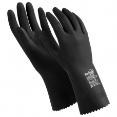 Перчатки латексные MANIPULA 'КЩС-2', ультратонкие, размер 8-8,5 M, черные, L-U-032