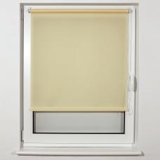 Штора рулонная светопроницаемая BRABIX 40х175 см, текстура 'Лён', кремовый, 605968
