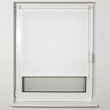 Штора рулонная светопроницаемая BRABIX 50х175 см, текстура 'Лён', белый, 605975