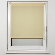 Штора рулонная светопроницаемая BRABIX 55х175 см, текстура 'Лён', кремовый, 605978