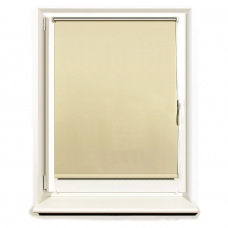 Штора рулонная светонепроницаемая Блэкаут BRABIX 60х175 см, кремовый/серебро, 606008