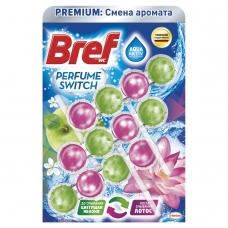 Освежитель WC для туалета твердый 3х50 г BREF Бреф Perfume Switch, 'Яблоня-лотос', 2336888