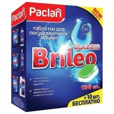 Таблетки для мытья посуды в посудомоечных машинах 110шт PACLAN Brileo 'Classic', ш/к 86808, 419260