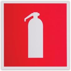 Знак пожарной безопасности 'Огнетушитель', 200х200 мм, самоклейка, фотолюминесцентный, F 04