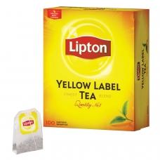 Чай LIPTON Липтон 'Yellow Label', черный, 100 пакетиков с ярлычками по 2 г, 20248358