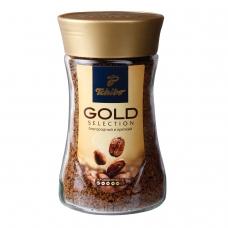 Кофе растворимый TCHIBO 'Gold selection', сублимированный, 190 г, стеклянная банка, -