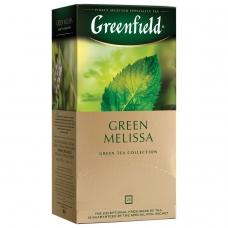 Чай GREENFIELD Гринфилд 'Green Melissa', зеленый, 25 пакетиков в конвертах по 1,5 г