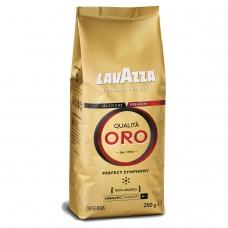 Кофе в зернах LAVAZZA Лавацца 'Qualita Oro', натуральный, 250 г, вакуумная упаковка, 2051