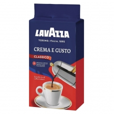 Кофе молотый LAVAZZA Лавацца 'Crema e Gusto', натуральный, 250 г, вакуумная упаковка, 3876