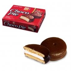 Печенье LOTTE 'Choco Pie' 'Чоко Пай', прослоенное, глазированное, в картонной упаковке, 336 г 12 штук х 28 г