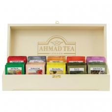 Чай AHMAD Ахмад 'Contemporary', набор в деревянной шкатулке, ассорти 10 вкусов по 10 пакетиков по 2 г, Z583