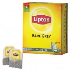Чай LIPTON Липтон 'Earl Grey', черный, 100 пакетиков с ярлычками по 2 г, 67106269