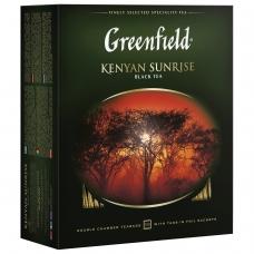 Чай GREENFIELD Гринфилд Kenyan Sunrise Рассвет в Кении, черный, 100 пакетиков в конвертах по 2 г, 0600-09